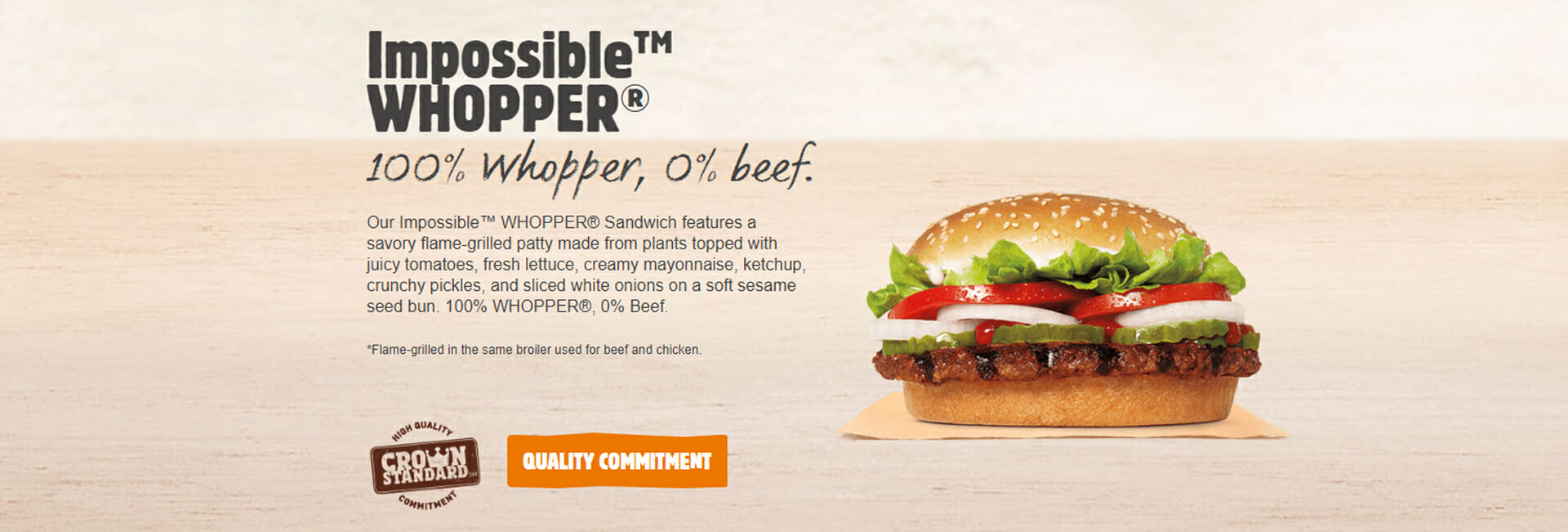 Impossible whopper vegan